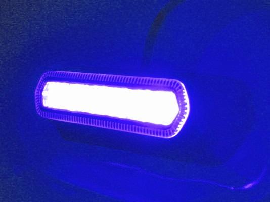 Autosvětlo výstražné PROFI, modré, 12-24V, vnější, 7LED