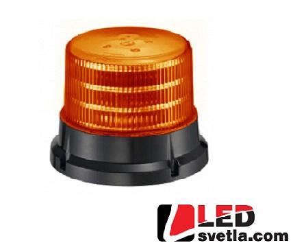 LED maják výstražný, oranžový, 12-24V, 36x5W, ECE R65 167x132mm