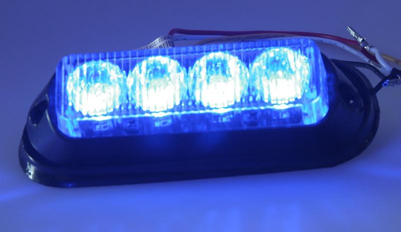 Autosvětlo výstražné PROFI, modré, 12-24V, vnější, PREDATOR