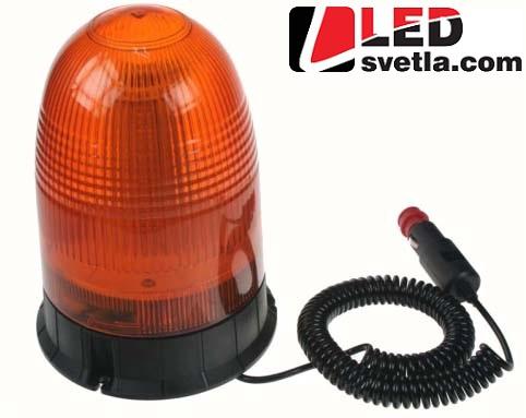 LED maják výstražný, oranžový, 12-24V, 80xSMD5050, magnet