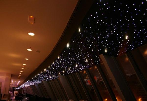 Hvězdné nebe - optický set, 550ks vláken, RGB