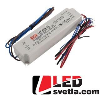 Zdroj 5A/12V, 60W, IP67, stmívací, voděodolný