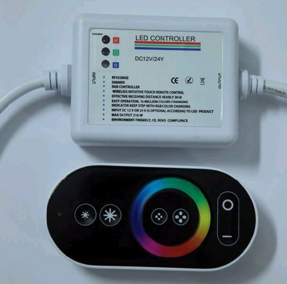 Ovladač k RGB LED páskům s řídící jednotkou
