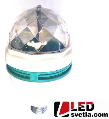Žárovka full color rotating lamp, 3x1W, 85-260V