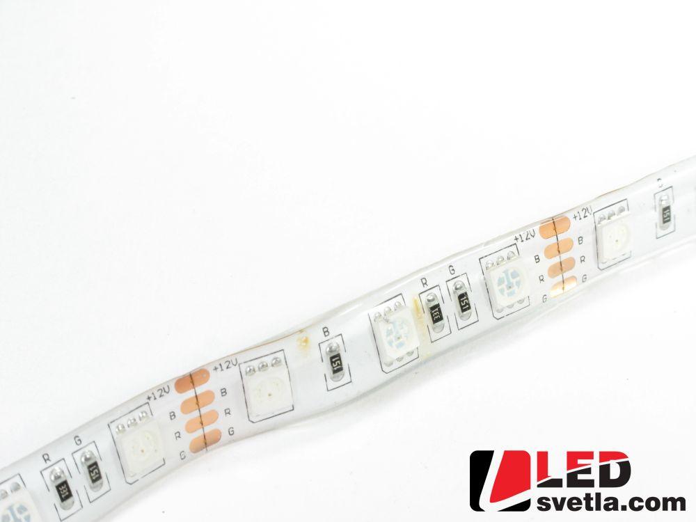 Pásek LED 60x5050SMD, 12V, 12W/m, voděodolný, IP64, RGB