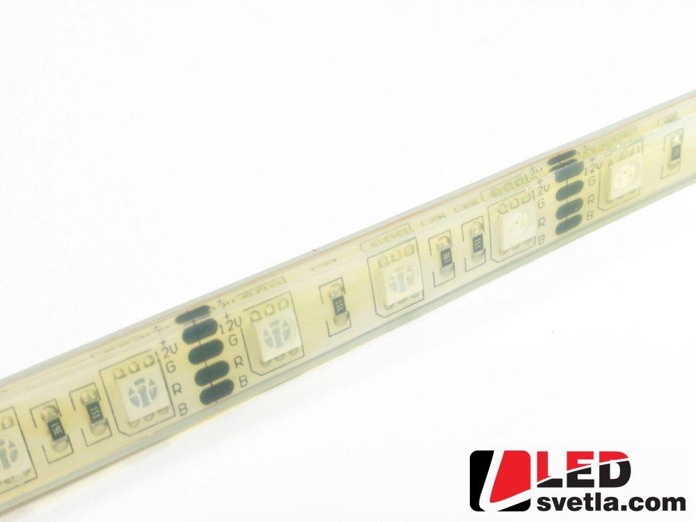 Pásek LED 60x5050SMD, 12V, 12W/m, voděodolný, IP68, RGB