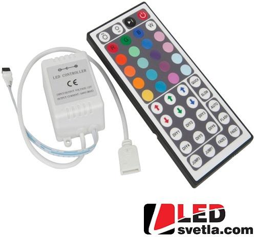 Ovladač - dálkový, k RGB páskům - 3 kanály
