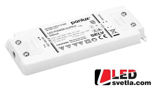 Zdroj 0,5A/230V, 15W, IP20, tenký, proudový