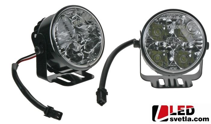 Autosvětlo pro denní svícení, kulaté, 2x4,4W, 12-24V, 70mm, homologace
