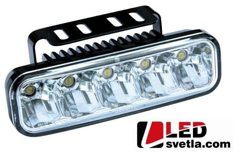 Autosvětlo pro denní svícení, 2x5W, 12-24V, 147x45mm, homologované