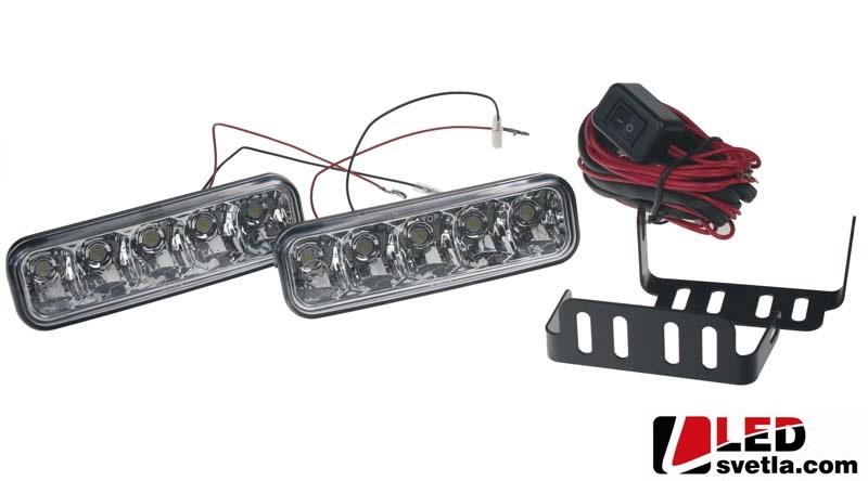 Autosvětlo pro denní svícení, 2x5W, 12-24V, 146x44mm, homologované