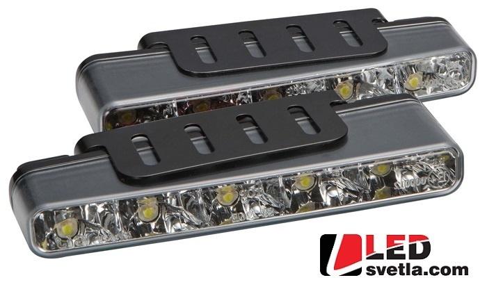 Autosvětlo pro denní svícení, 2x5W, 12V, 160x25mm, homologované