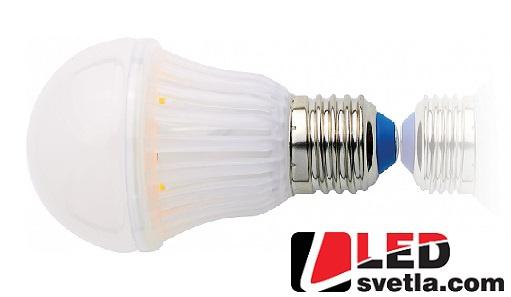 Žárovka E27, 6,5W, 700lm, 360°, Eco Label, CW (studená bílá)