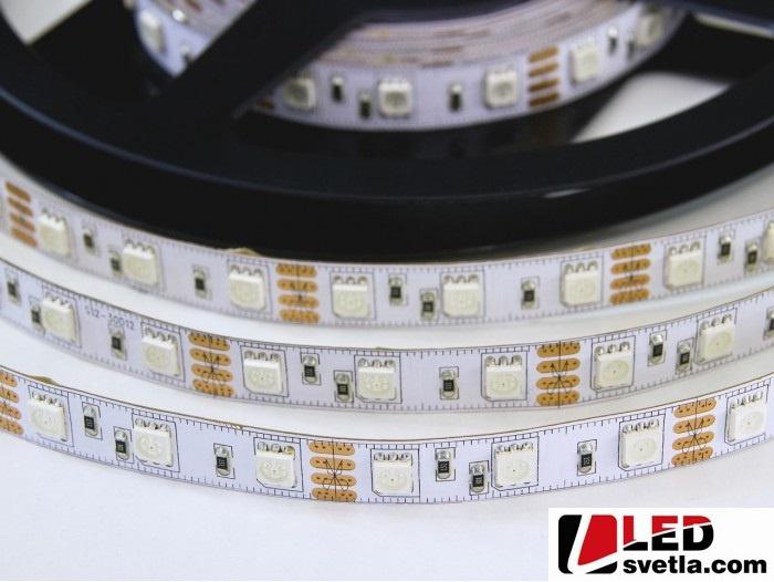 Pásek LED 60x5050 SMD, 12V, 14,4W/m, RGB
