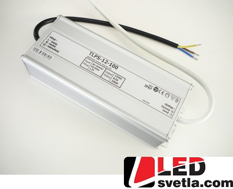 Zdroj 8,5A/12V, 100W, IP67, voděodolný