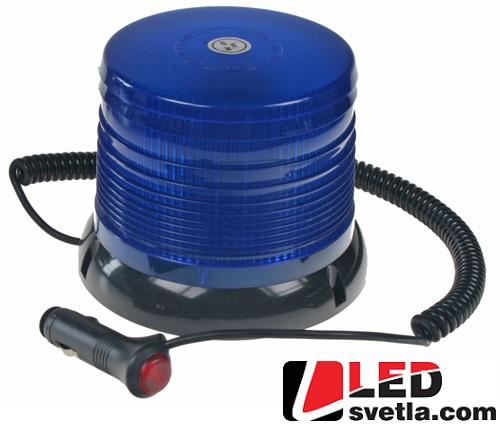 LED maják výstražný, modrý 12-24 V, IP64, s magnetem