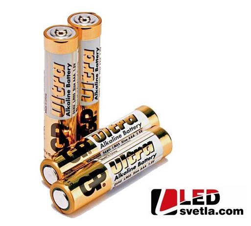 Alkalická tužková baterie GP Ultra (AAA), LR03, 1,5 V