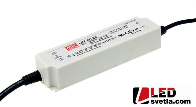 Zdroj 5A/12V, 60W, IP67, voděodolný