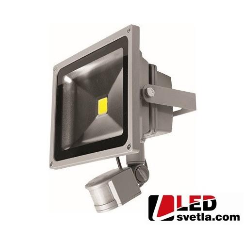 Reflektor LED venkovní, 230V, 10W, s PIR čidlem, PW (neutrální bílá)