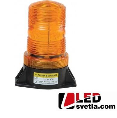 LED maják výstražný, oranžový, 9-100V, 30xLED