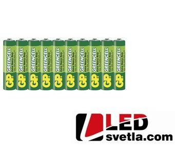 Zinkochloridová baterie GP greencell R03 (AAA), 1,5V