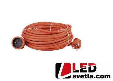 Prodlužovací kabel 30m, oranžový