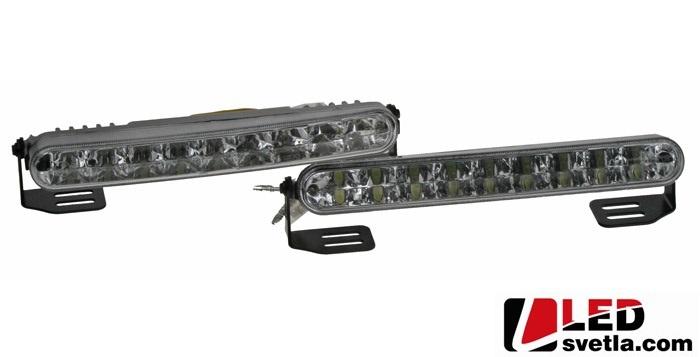 Autosvětlo pro denní svícení, kosoúhlé, 2x6W, 12-24V, 182x24mm, homologované