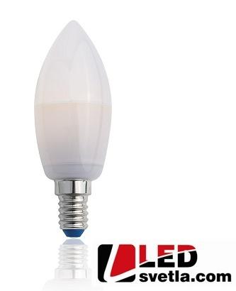 Žárovka E14, 3,5W, 350lm, 360°, Crystal Svíčka, PW (neutrální bílá)