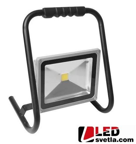 Reflektor LED vana, 230V, 30W, IP65, s držákem, PW (neutrální bílá)