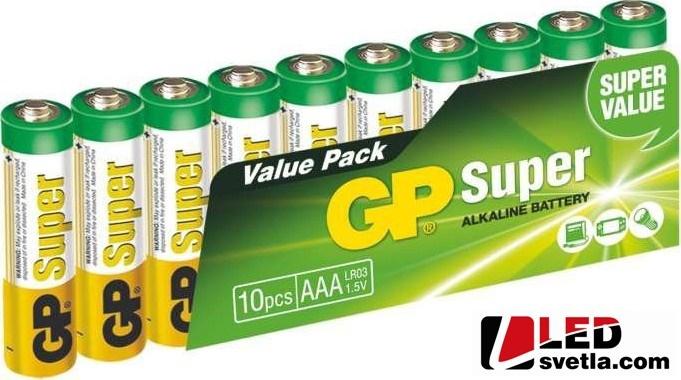 Alkalická tužková baterie GP super (AAA), LR03, 1,5V