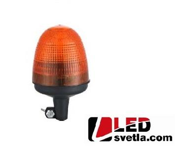 LED maják výstražný, oranžový, 12-24V, 40LED, na držák