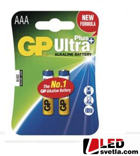 Alkalická tužková baterie GP ultra plus (AAA), LR03, 1,5V