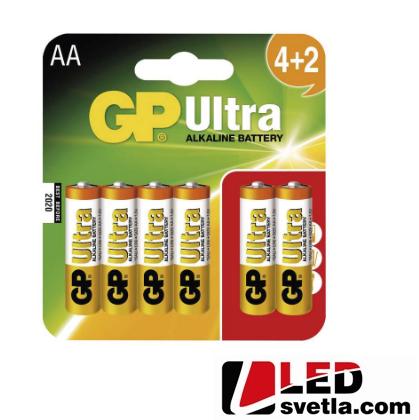 Alkalická baterie GP ultra (AA), LR6, 1,5V