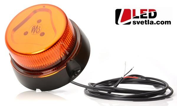 LED maják výstražný, oranžový, 12-24V, (Série: W126)