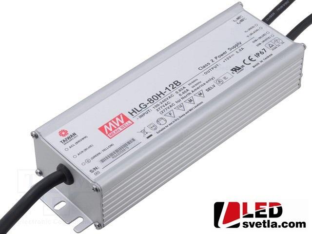 Zdroj 0-5A/12V, 60W, IP67, voděodolný