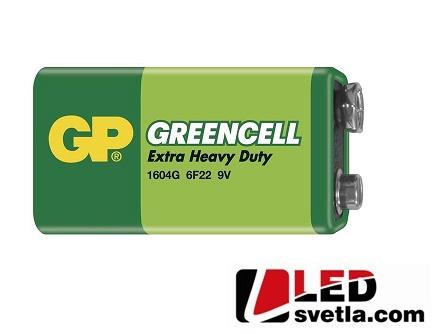 Zinkochloridová baterie GP greencell, 6F22, 9V