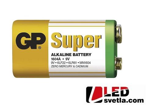 Alkalická baterie GP super, 6LP3146, 9V