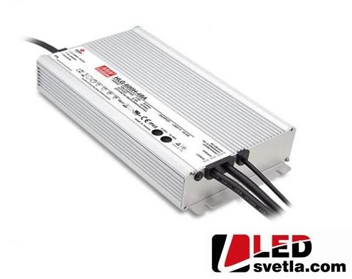 Zdroj 40A,/12V, 480W, IP67, voděodolný (HLG-600H-12A)