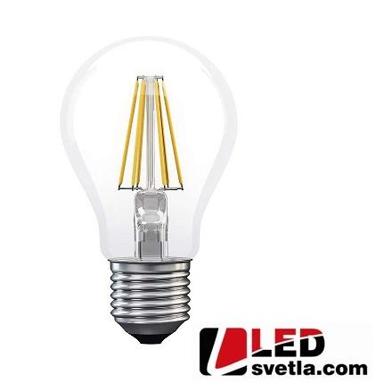 Žárovka E27, 6W, 806lm, 360°, filament, WW (teplá bílá)