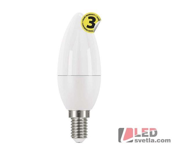 EMOS spol. s.r.o. Žárovka E14, svíčka, 6W, 470lm, 250°, WW (teplá bílá)